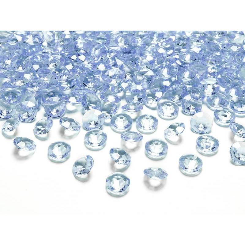 Confettis de diamants bleu ciel 12 mm