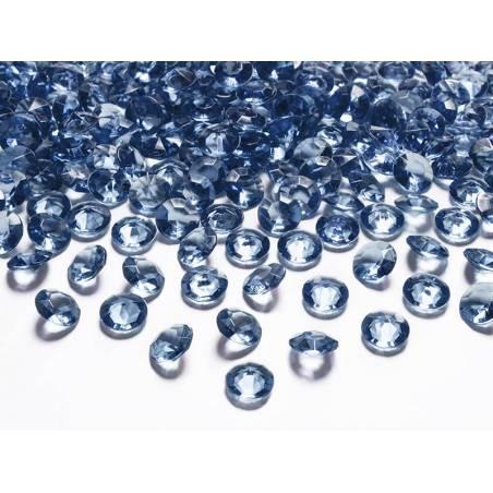Confetti de diamant bleu foncé 12 mm