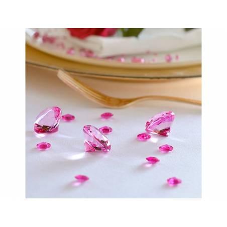 Confetti de diamant rose 12mm