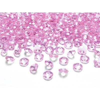 Confettis de diamants rose clair 12 mm