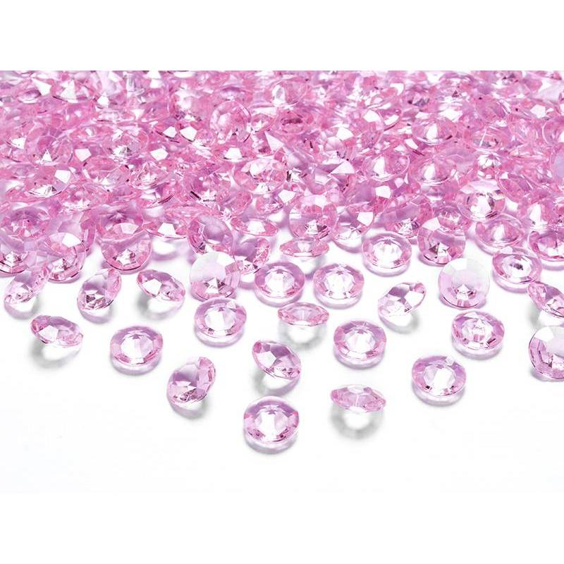 Confettis de diamants rose clair 12 mm