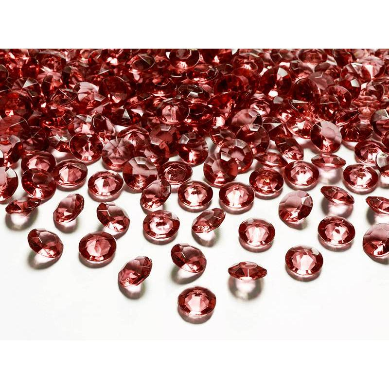 Confettis de diamants rouge profond 12 mm