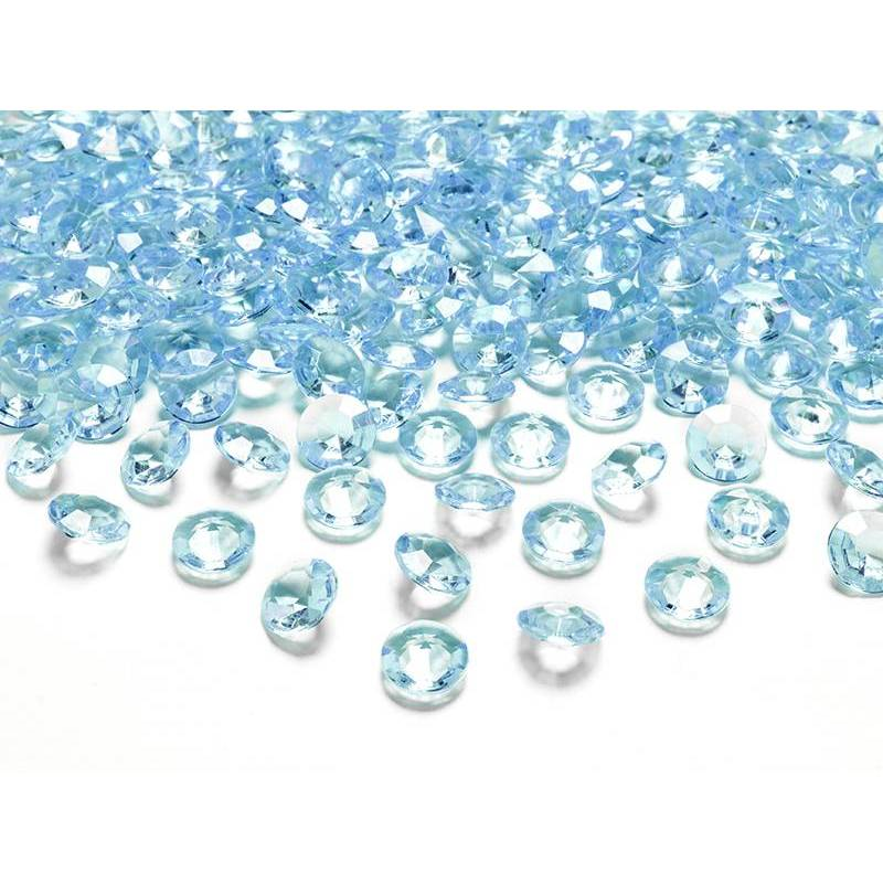 Confetti de diamants turquoise 12mm