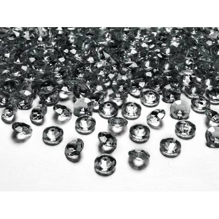Confetti de diamant gris 12mm