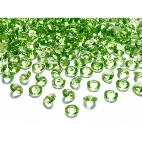 Confetti de diamant vert clair 12 mm