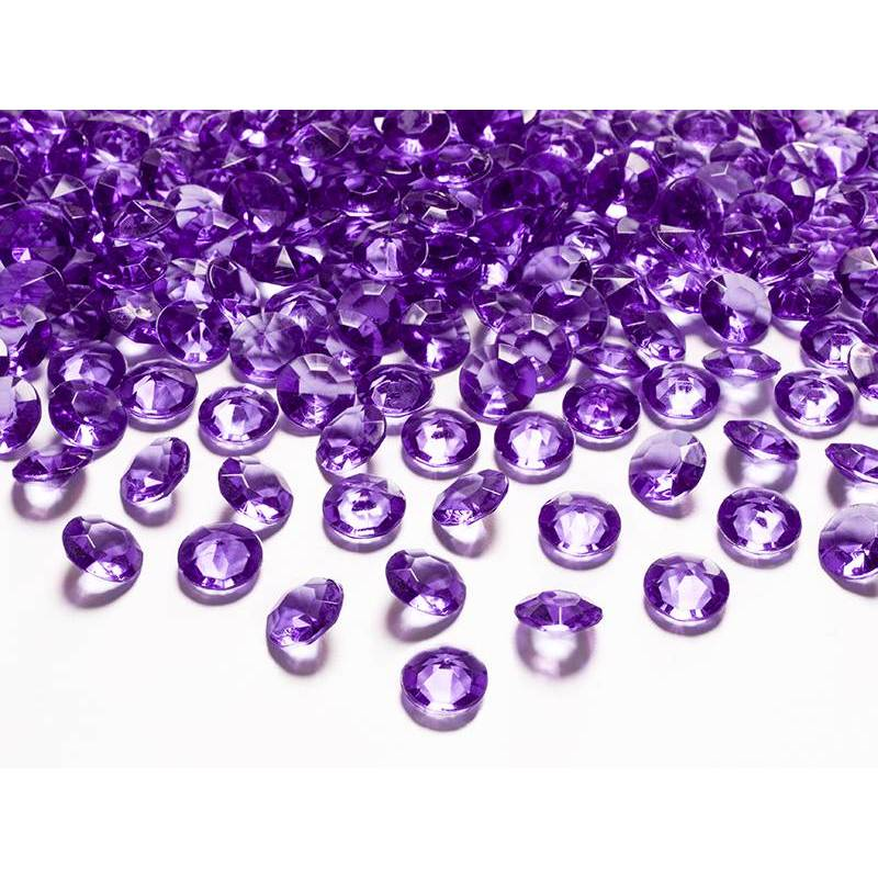Confetti de diamant prune 12mm