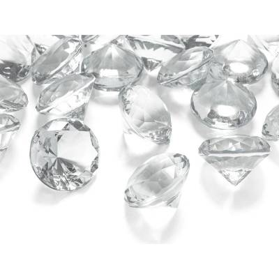 Confetti de diamant incolore 30mm