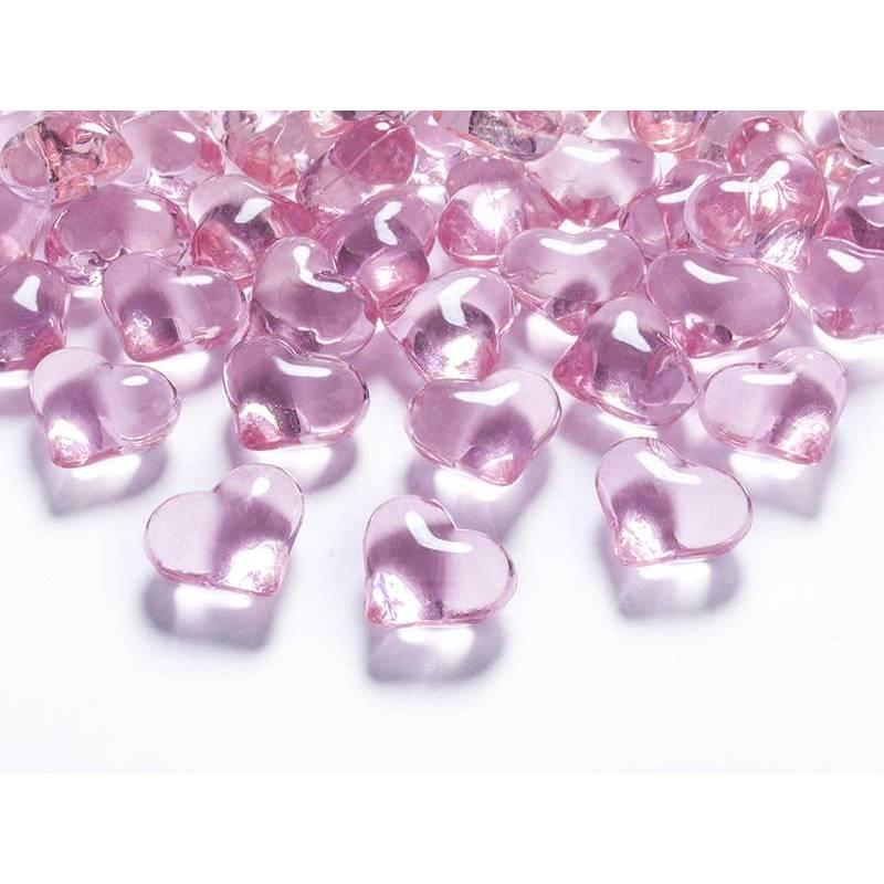 Coeurs en cristal rose clair 21mm