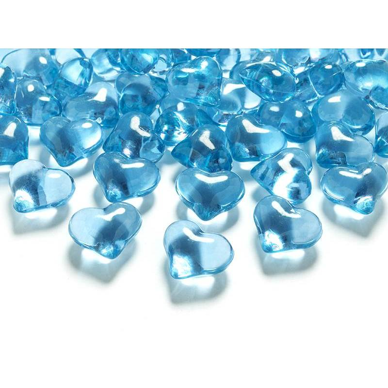 Coeurs en cristal turquoise 21mm