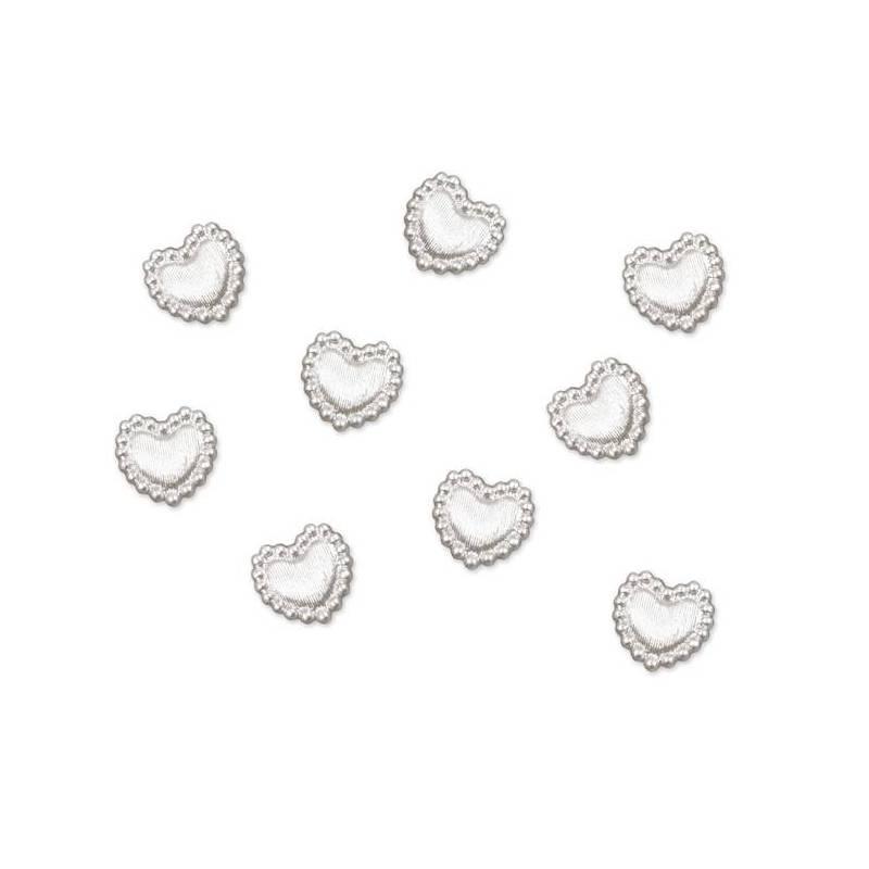 Bijoux perles en forme de cœur 1cm