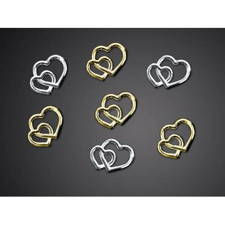Embellissements Coeurs or 10mm