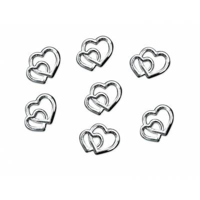 Embellishments Hearts silver 10mm