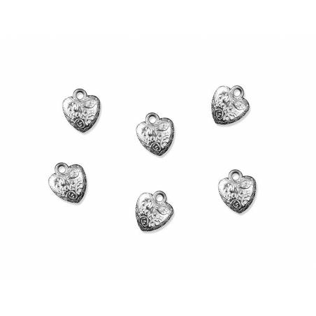 Embelishments Heart silver 17mm