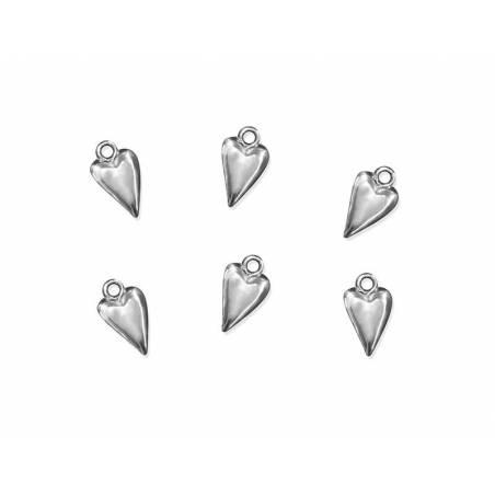 Embellissements Coeur argent 19mm