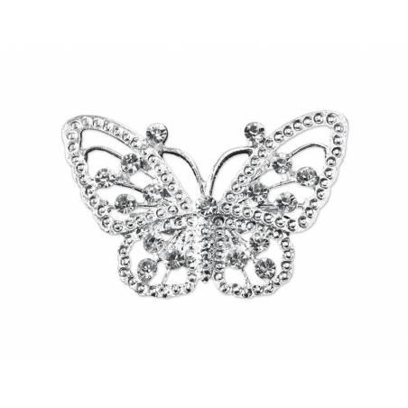 Broche décorative grand papillon 30 x 48mm