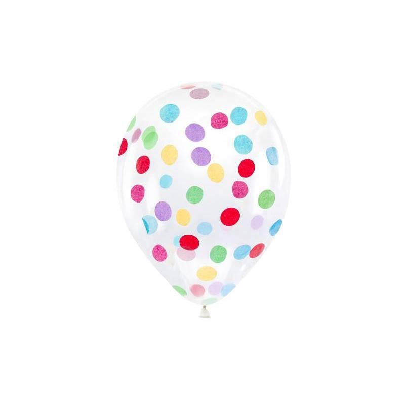 Ballons à confettis - cercles 30cm mélanger