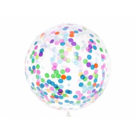 Ballon à confettis - cercles 1m mélanger