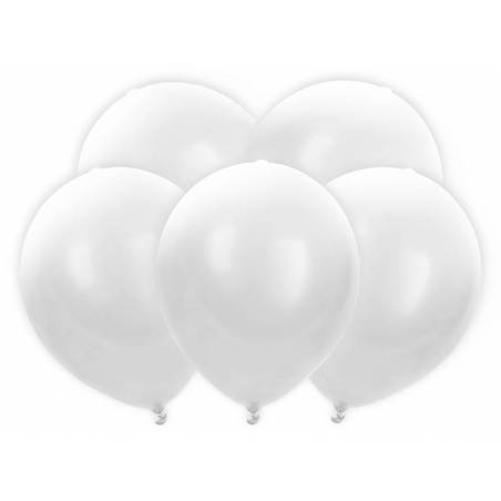 Ballons à LED 30cm blancs