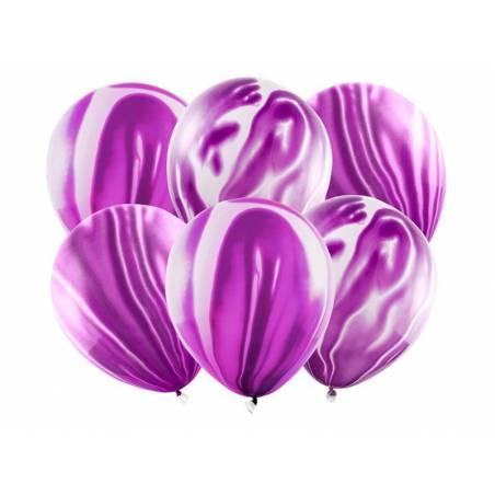 Ballons en marbre 30cm violet
