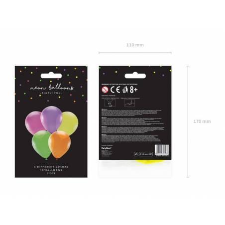 Ballons fluo 25cm mélanger