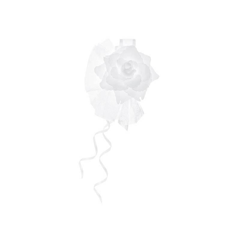 Posies avec une rose blanc 14cm
