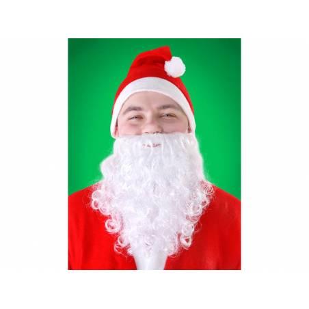 Barbe du Père Noël blanche