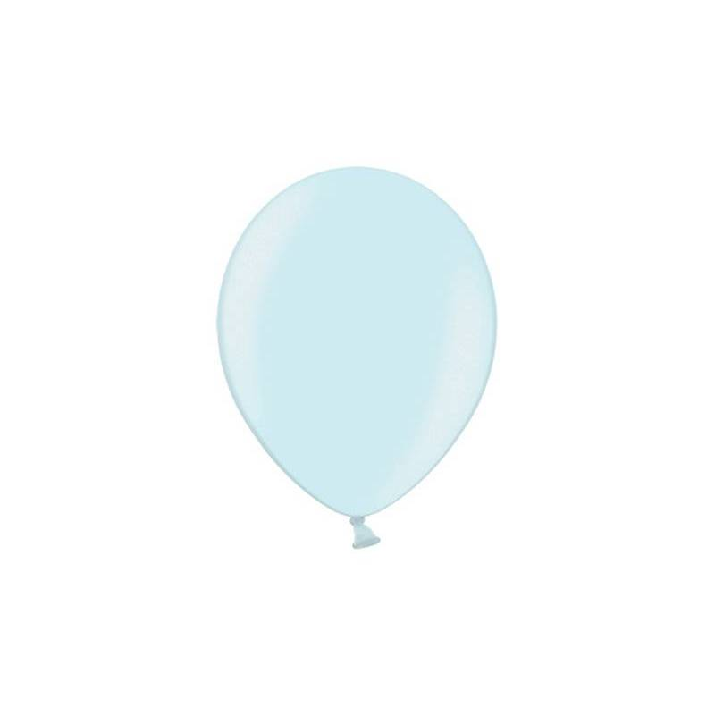 Ballons de fête 25 cm bleu ciel