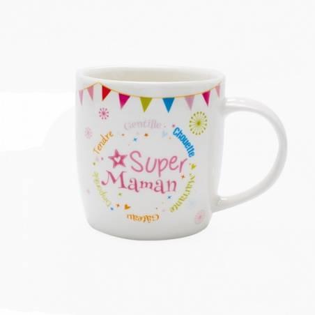 """Mug blanc """"Super Maman"""""""
