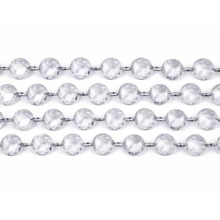 Guirlande de cristal incolore 1m