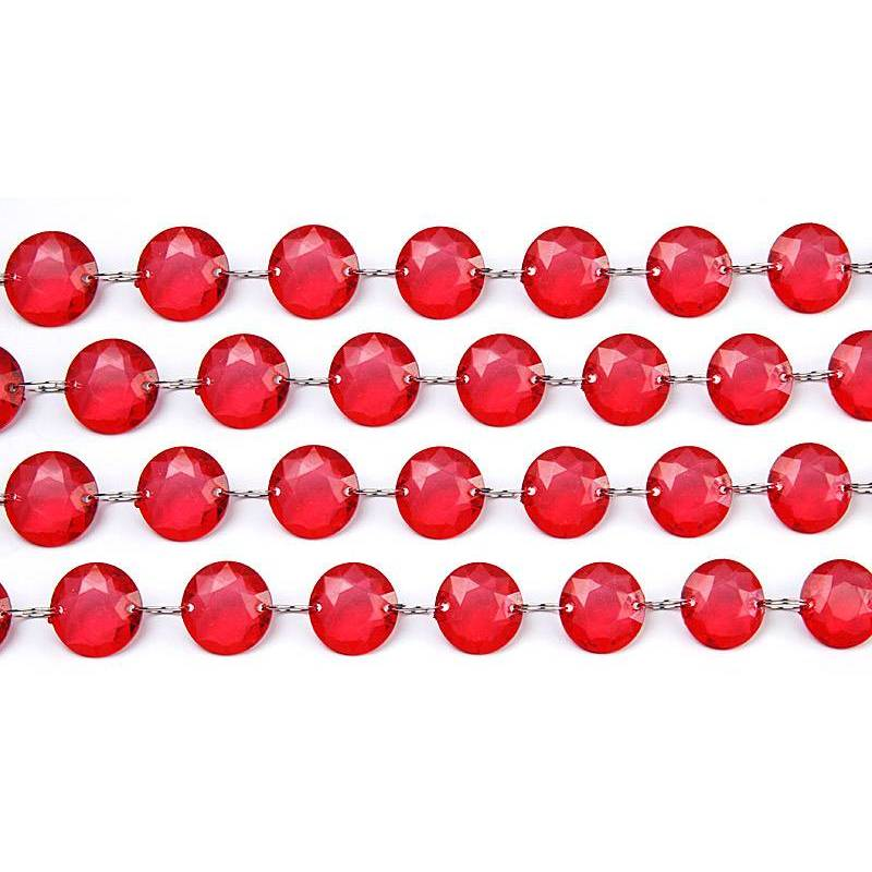 Guirlande de cristal rouge 1m