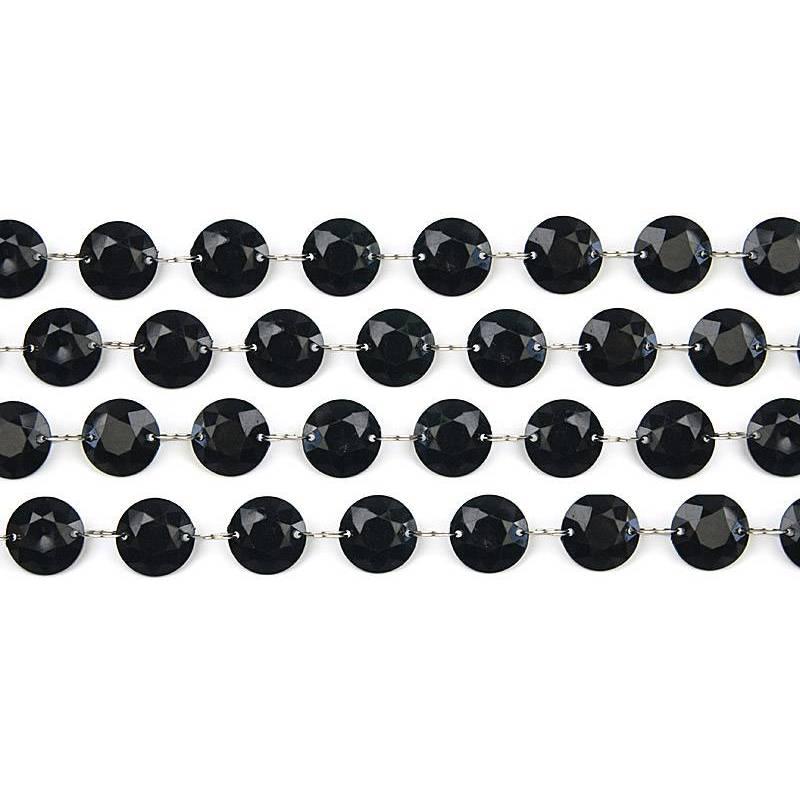 Guirlande de cristal noir 1m