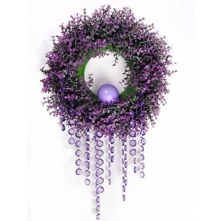Guirlande de cristal violet 1m
