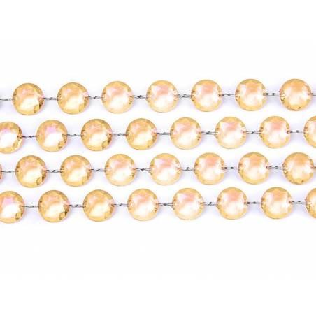 Guirlande de cristal or 1m