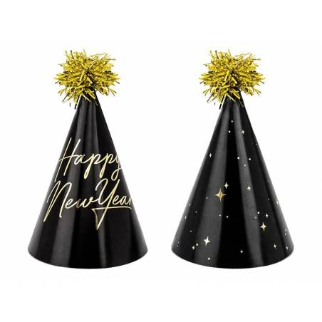 Chapeaux de fête Happy New Year 16cm