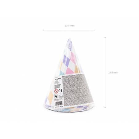 Chapeaux de fête Licorne mélange 10cm