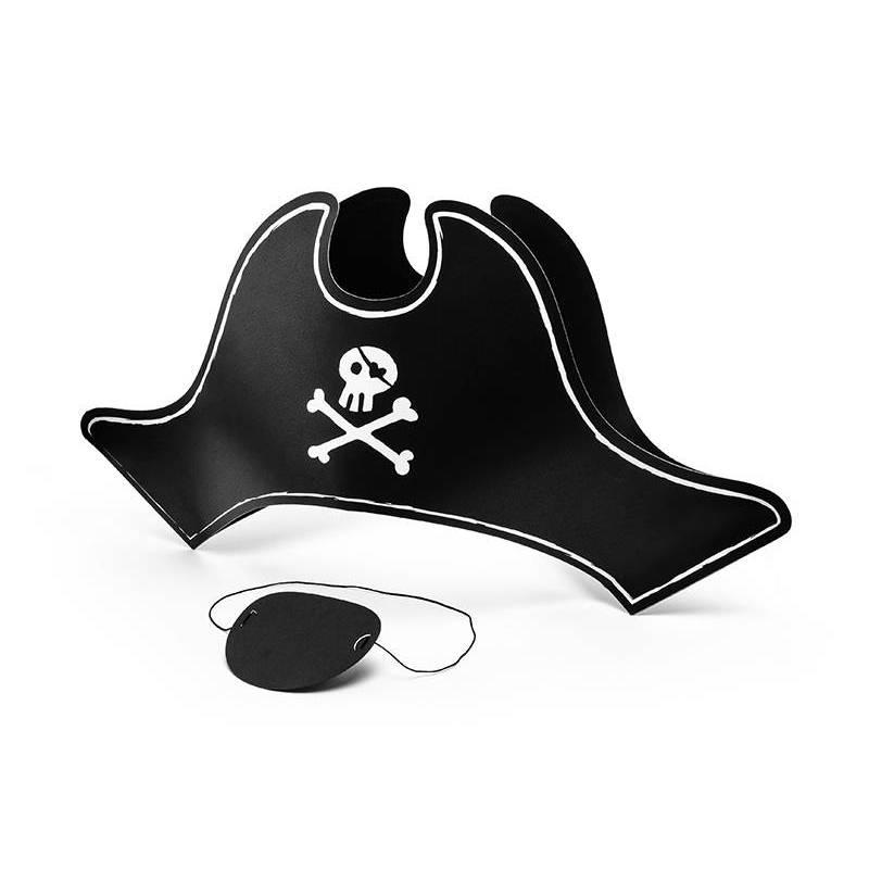 Chapeau de pirate et cache oculaire 14cm