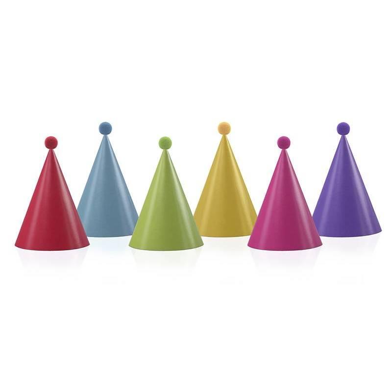 Chapeaux de fête avec pompons mélanger
