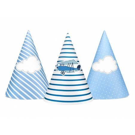 Chapeaux de fête Little Plane mix 10cm