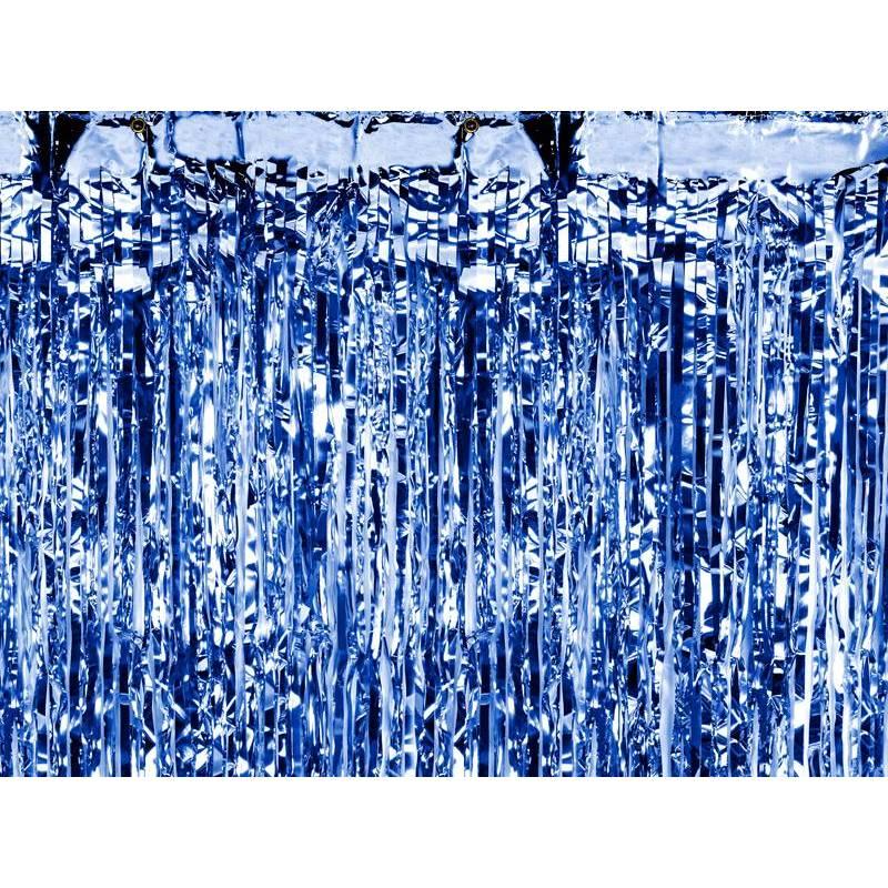 Rideau de fête bleu 09 x 25m