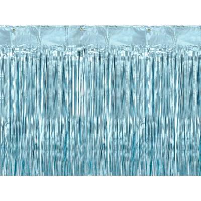 Rideau de fête bleu 90x250cm