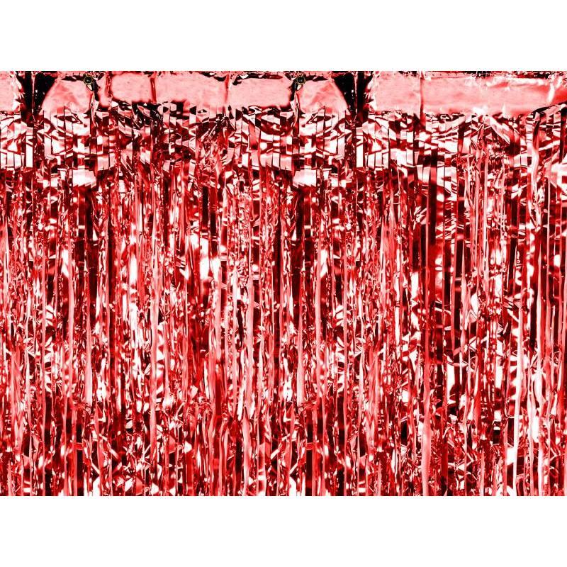 Rideau de fête rouge 09 x 25m