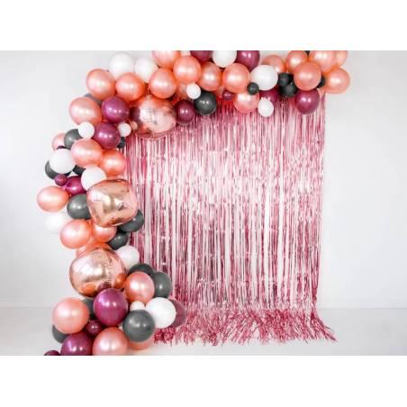 Rideau de fête or rose 90x250cm