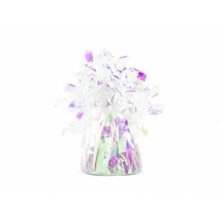 Poids du ballon en feuille irisé
