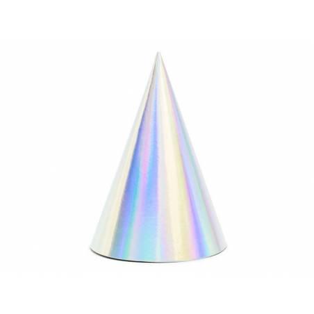 Chapeaux de fête irisés 10cm
