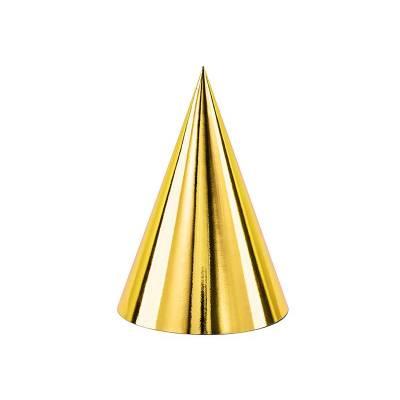 Chapeaux de fête or 10cm
