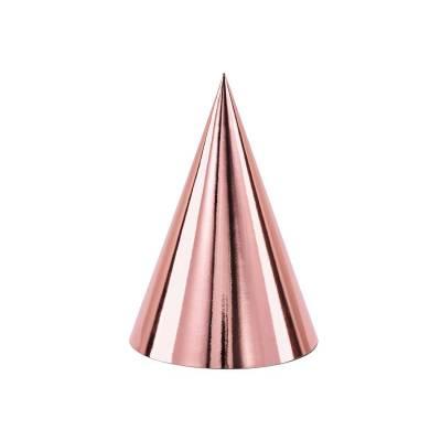 Chapeaux de fête or rose 10cm