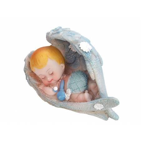 Figurine Ange garçon bleu 6.5cm