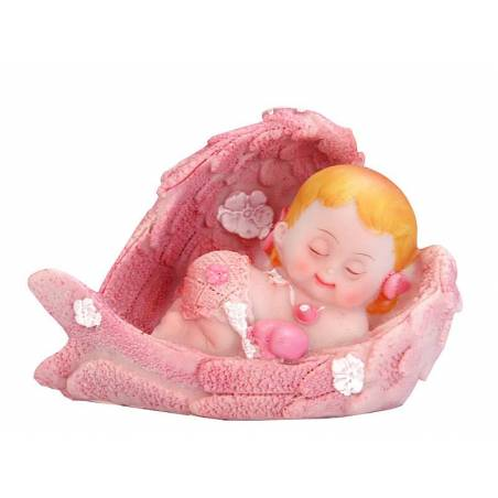 Figurine Fille Ange rose 6.5cm