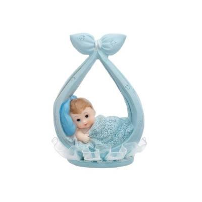 Figurine Garçon dans un foulard bleu 11cm