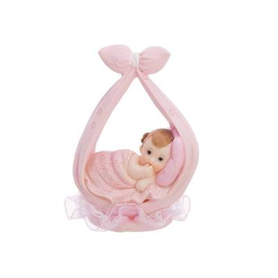 Figurine Fille dans un foulard rose 11cm